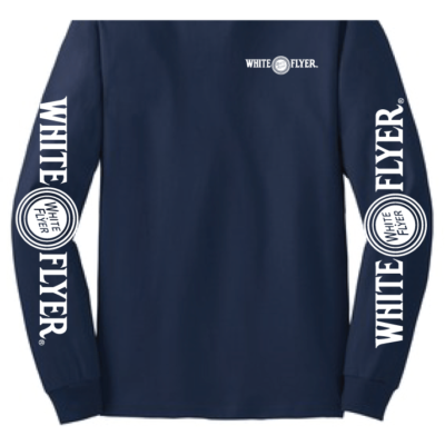 White Flyer Navy Long Sleeve front