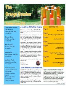 White Flyer Newsletter Summer Issue 2016