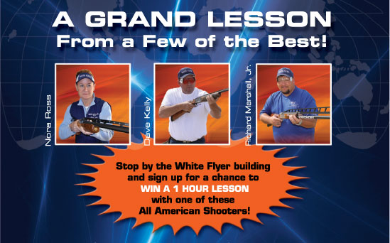 Grand American Trap Shoot chance to win a lesson with All American Shooters!