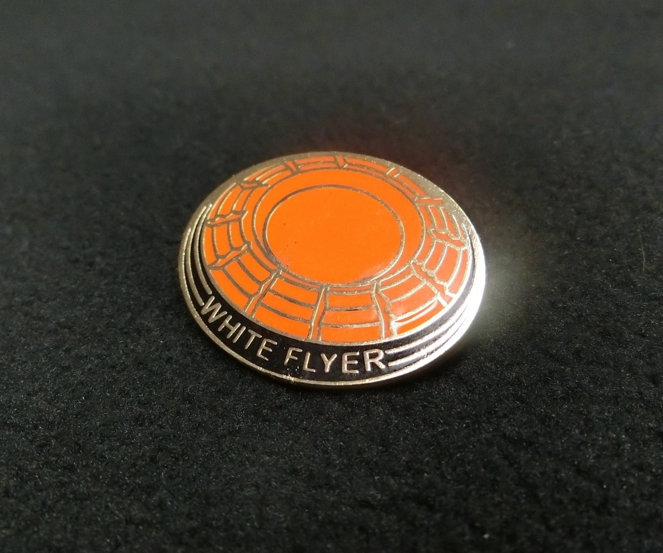 White Flyer Hard Enamel Pin