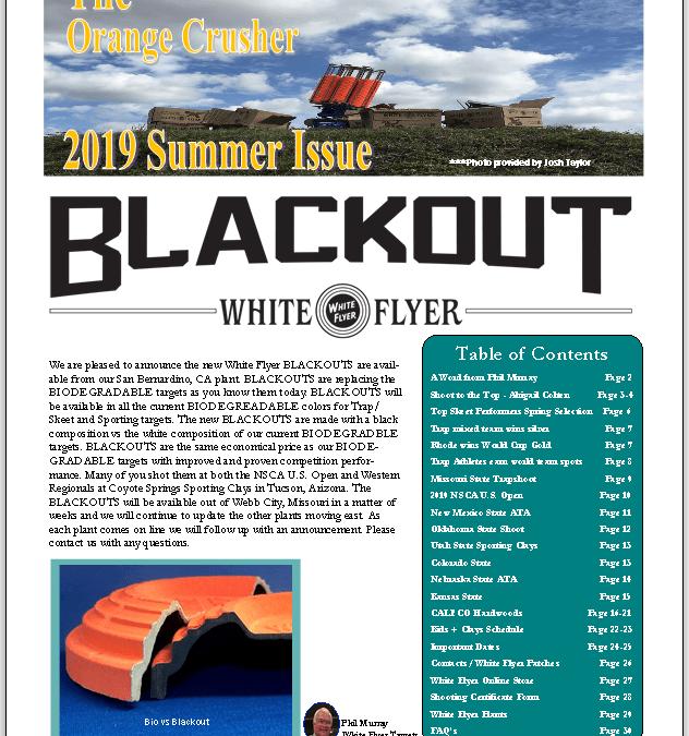 """Summer 2019 Newsletter """"The Orange Crusher"""""""